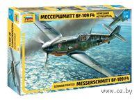 "Немецкий истребитель ""Мессершмитт"" Bf-109 F4 (масштаб: 1/48)"
