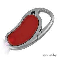 Авторучка с фонариком на карабине (красная)