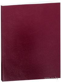 Тетрадь в линейку 80 листов (бордовая)