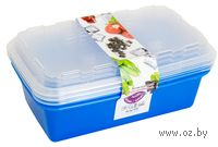 """Набор контейнеров для заморозки """"Zip"""" (3 шт.; джинс)"""