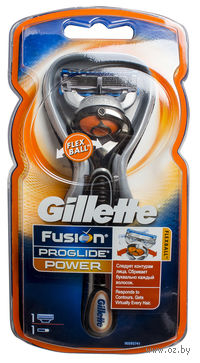 Бритва Gillette Fusion ProGlide Power с технологией FlexBall
