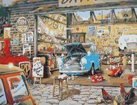 """Картина по номерам """"Автосервис в ретро стиле"""" (500x650 мм; арт. MMC083)"""