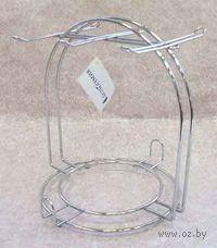 Подставка-вешалка для чашек с блюдцами металлическая (18х19,5х20 см)