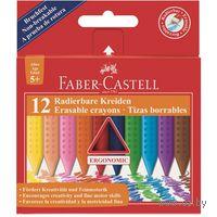 Трехгаранные цветные восковые мелки GRIP в картонной коробке (12 цветов)