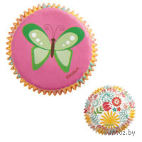 """Набор форм бумажных для выпекания кексов """"Вечеринка в саду"""" (75 шт; арт. WLT-415-0170)"""