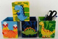 """Подставка для ручек деревянная """"Динозавр"""" (8,5*8,5*10 см)"""