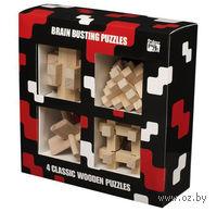 Набор из 4 головоломок из дерева