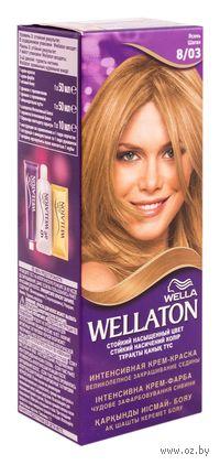 """Стойкая крем-краска для волос WELLATON """"8/03-Ясень"""""""