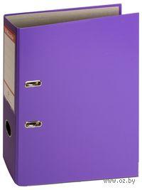 Папка-регистратор А4 с арочным механизмом 75 мм (ПВХ ЭКО, фиолетовая)