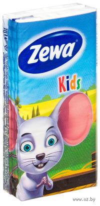 """Бумажные носовые платочки ZEWA """"Детские"""""""
