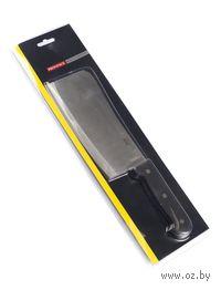 Нож-секач кухонный металлический с пластмассовой ручкой (300/175 мм)