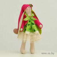 """Кукла ручной работы """"Зайчиха"""" (новогодняя зайчиха в длинной шапочке)"""