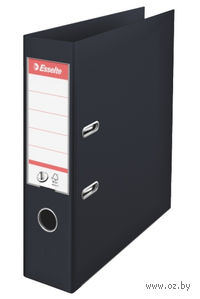 Папка-регистратор А4 с арочным механизмом, 75 мм (ПВХ, черная)