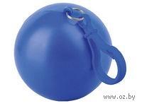 Дождевик в футляре с карабином (синий)
