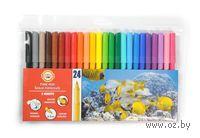 Фломастеры смываемые водой (24 цвета)