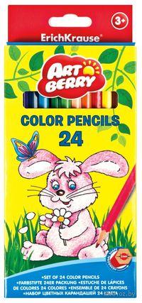 """Карандаши цветные """"Artberry"""" (24 цвета)"""