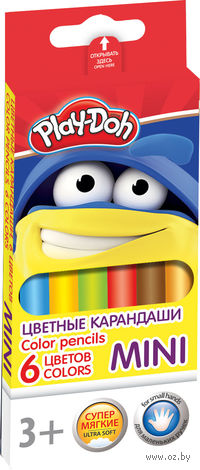 """Цветные карандаши """"Mini"""" трехгранные (6 цветов)"""