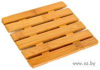Подставка под горячее бамбуковая (12,5*12,5 см)