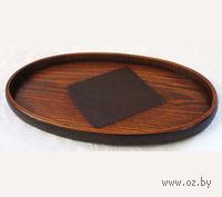 Поднос деревянный овальный (33х20х2 см)
