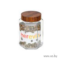 Банка для сыпучих продуктов стеклянная с пластмассовой крышкой, 1,5 л (арт. 231911)