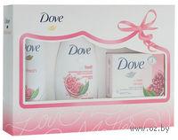 """Подарочный набор DOVE """"Пробуждение чувств"""" (гель для душа 250 мл + дезодорант 150 мл + туалетное мыло 135 г)"""