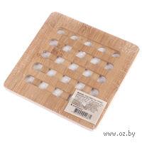 Подставка под горячее бамбуковая (18*18*1 см)