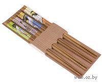 Набор палочек для еды бамбуковых (4 пары, 22,5 см, арт. BB101179)