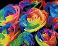 """Картина по номерам """"Розы. Абстракция"""" (400х500 мм)"""