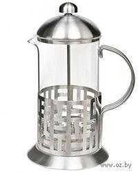 Кофейник с прессом, стекло/металл, 1000 мл (арт. YM-014/1000)