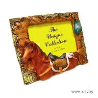 """Рамка для фото пластмассовая """"Лошадь"""" (19*15 см, арт. LE00214S)"""