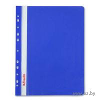 Папка-скоросшиватель с прозрачной обложкой с перфорацией (синяя)