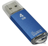 USB Flash Drive 4Gb SmartBuy V-Cut (Blue)