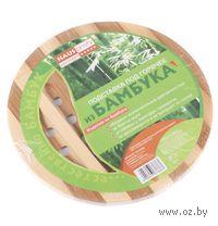 Подставка под горячее деревянная (бамбук, 20*1 см)
