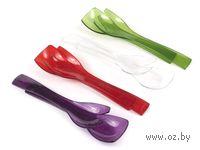Набор кухонных инструментов пластмассовых, термостойких, 2 предмета: ложка, вилка (26,5 см)
