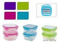 Набор контейнеров пластмассовых для продуктов (2 шт, 220/185 мл) в ассортименте