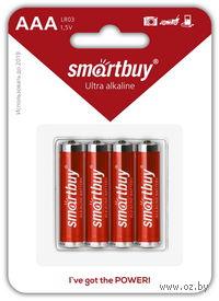 Батарейка алкалиновая Smartbuy LR6/4B (48/480) (SBBA-2A04B) (4 штуки)