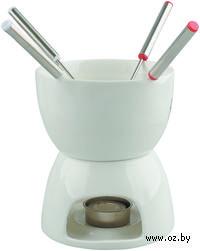 Набор для фондю. Чаша (500 мл), подставка, свеча, 4 шпажки