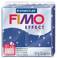 """Глина полимерная """"FIMO Effect"""" (синий металлик; 56 г)"""