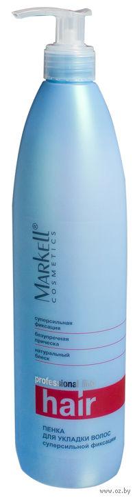 Пенка для укладки волос суперсильной фиксации (500 мл)