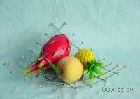Подставка для фруктов металлическая (37*37*8 см, арт. XX1853)