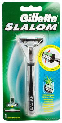Станок для бритья Gillette SLALOM + 1 кассета