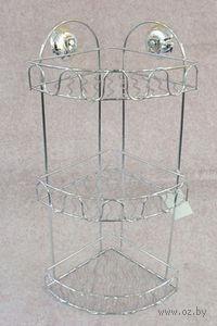 Полка для ванной металлическая 3-ярусная (280х210х535 мм)