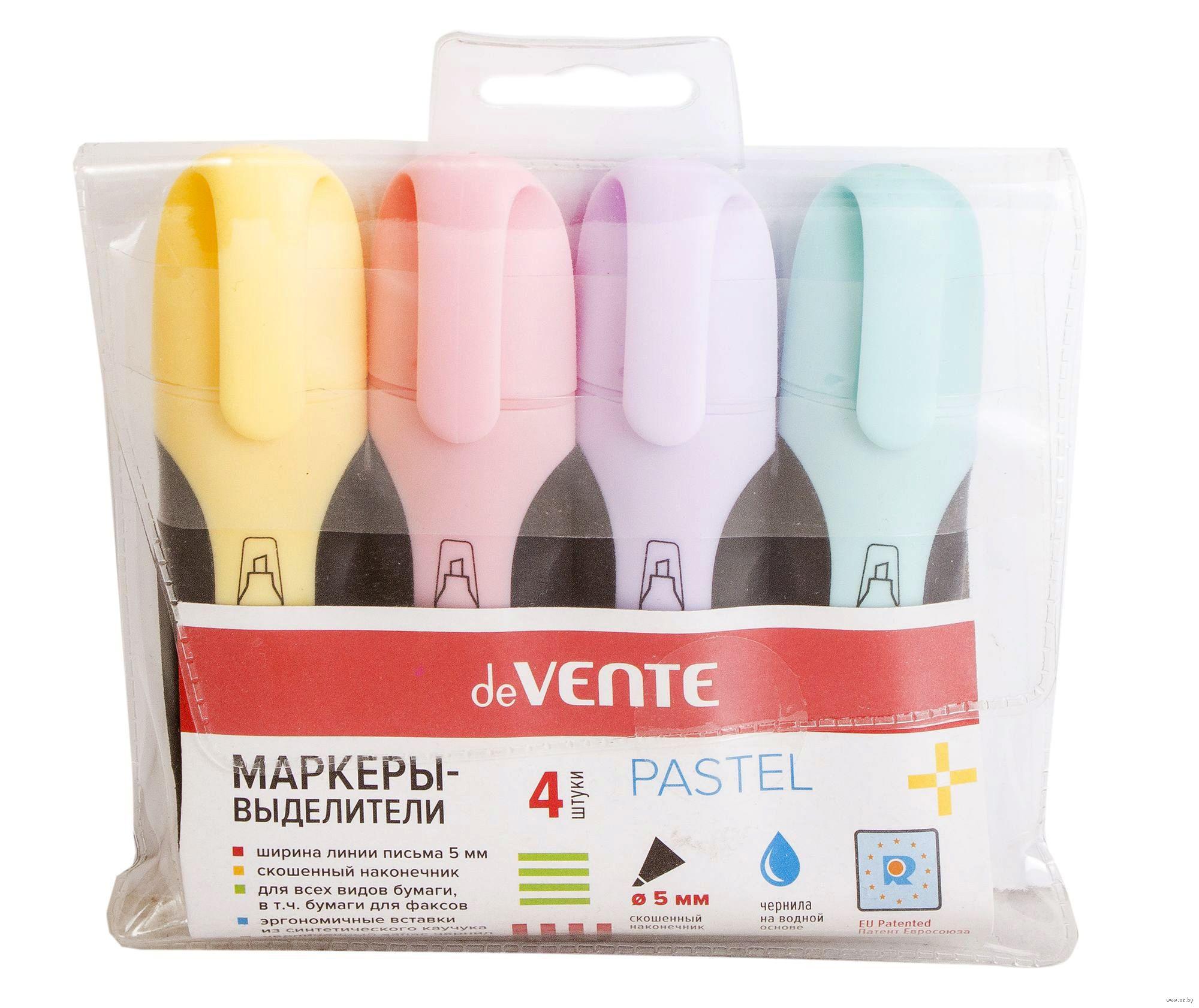 набор маркеров текстовых Pastel 4 цвета Devente купить в