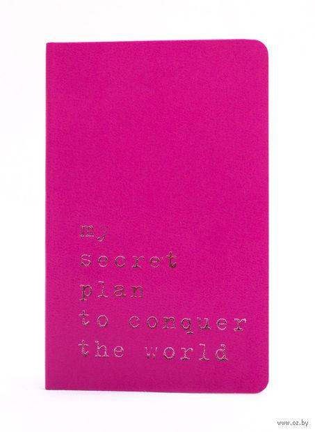 """Записная книжка Молескин """"Volant. My Secret Plan"""" в линейку (карманная; мягкая темно-розовая обложка)"""