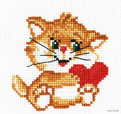 """Вышивка крестом """"Рыжий котенок"""""""