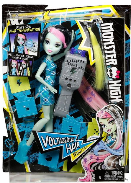 """Кукла """"Монстер Хай. Высоковольтные волосы. Фрэнки Штейн"""" — фото, картинка"""