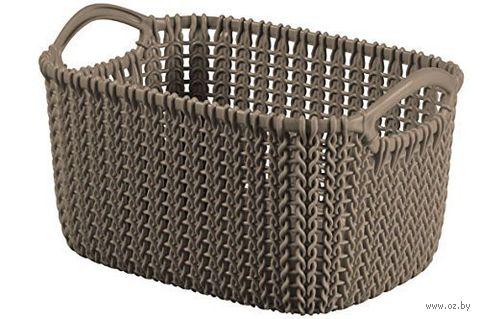 """Корзина """"Knit XS"""" (коричневая)"""