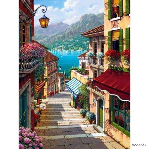 "Алмазная вышивка-мозаика ""Лестница к морю"" (300x400 мм) — фото, картинка"