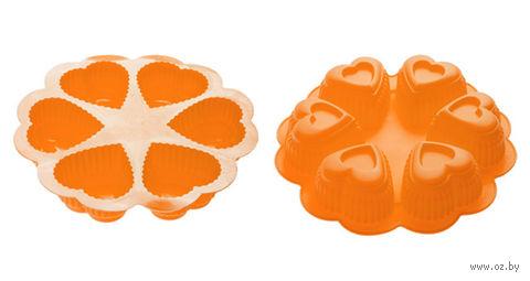 Форма силиконовая для выпекания (250x45 мм; оранжевая) — фото, картинка