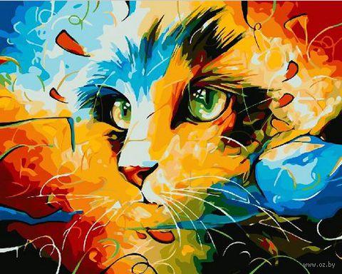 "Картина по номерам ""Кошка. Абстракция"" (400х500 мм) — фото, картинка"